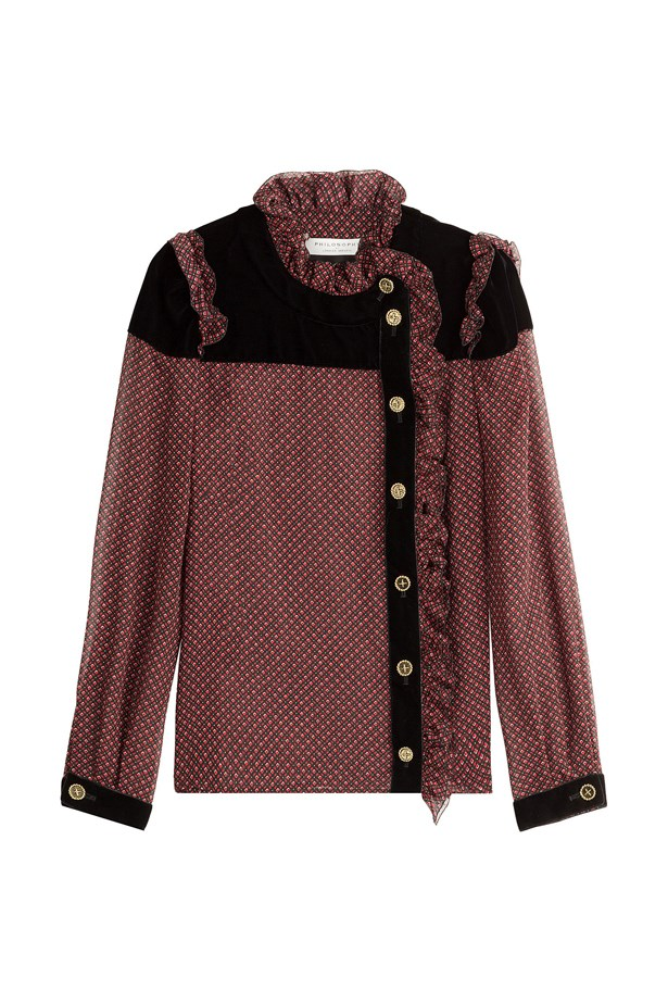 "Blouse, $616, <a href=""http://www.stylebop.com/au/product_details.php?id=708718"">Philosophy di Lorenzo Serafini at stylebop.com</a>."