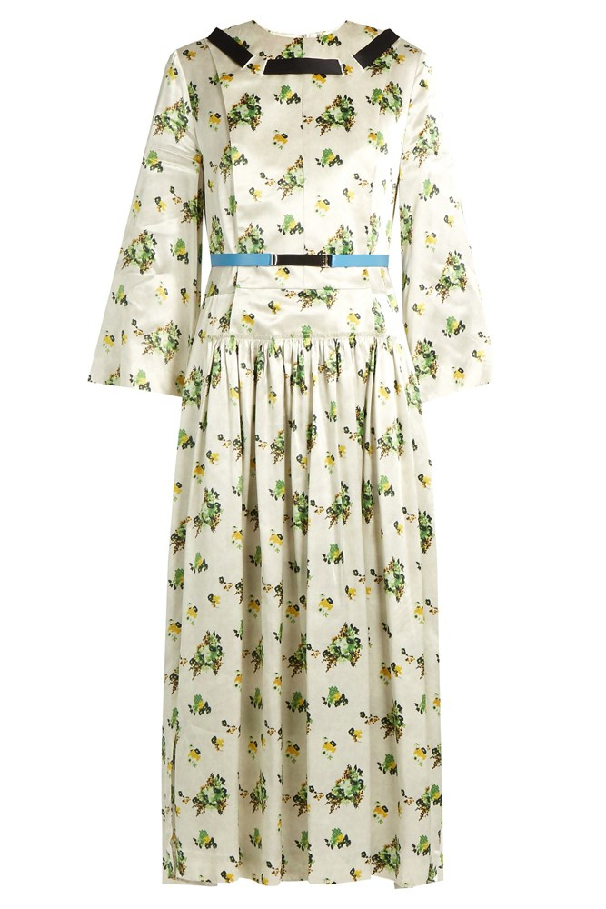 "<a href=""http://www.matchesfashion.com/au/products/Toga-Floral-print-contrast-ribbon-satin-dress-1058033"">Dress, $903, Toga at matchesfashion.com</a>"