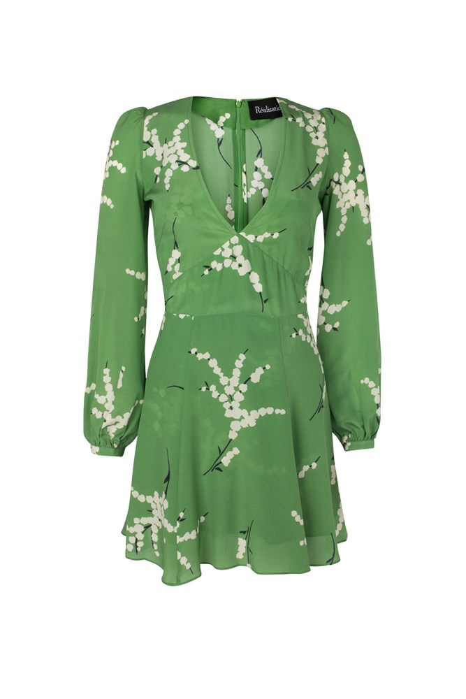 "<a href=""http://realisationpar.com/the-kate-summer-loving-green/"">Dress, approx. $257, Réalisation Par</a>"