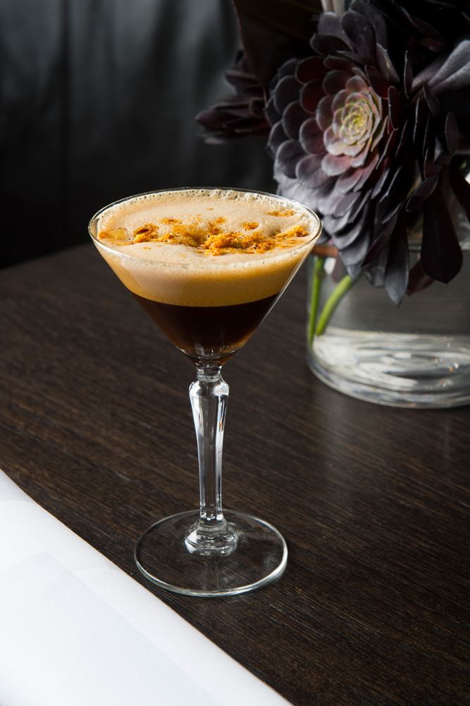 salted caramel espresso martini cocktail
