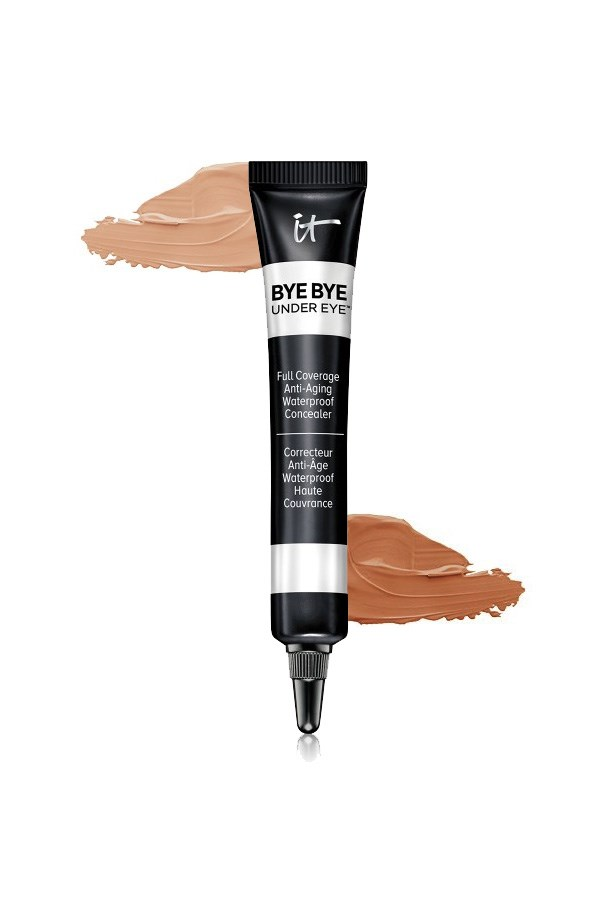 "<p> <a href=""https://www.itcosmetics.com/bye-bye-under-eyer-anti-aging-concealer"">IT Cosmetics Bye Bye Under Eye Anti-Ageing Concealer</a><p> <p> This cream concealer both covers and tightens to reduce the appearance of discolouration and lines."