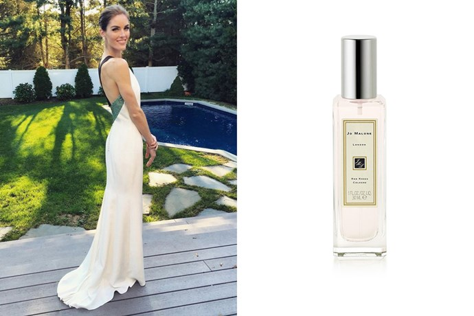 """<strong>Hilary Rhoda</strong><br> The model favourited Jo Malone London's 'Red Roses' scent.<br><br> <a href=""""http://shop.davidjones.com.au/djs/ProductDisplay?catalogId=10051&productId=13043&langId=-1&storeId=10051"""">Red Roses Cologne, $95 for 30ml, Jo Malone London</a>"""