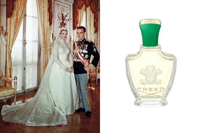 """<strong>Grace Kelly</strong><br> Perfume house Creed was famously commissioned to create a bespoke scent for the actress to wear for her wedding to Monaco's Prince Rainier III in 1956. The result? 'Fleurissimo', which you can buy in its original incarnation still to this day. <br><br> <em><a href=""""http://shop.davidjones.com.au/djs/ProductDisplay?catalogId=10051&productId=69597&langId=-1&storeId=10051&cm_mmc=googlesem-_-PLA-_-Health+and+Beauty+-+Personal+Care+-+Cosmetics+-+Perfume+and+Cologne-_-Creed+Fleurissimo+75ml&CAWELAID=620017140000007624&CAGPSPN=pla&CAAGID=19249393576&CATCI=pla-63261630054&gclid=CPCHyv3Jz88CFQsmvQod_hYNAQ&gclsrc=aw.ds"""">Fleurissimo EDP, $319 for 75ml, Creed</a></em>"""