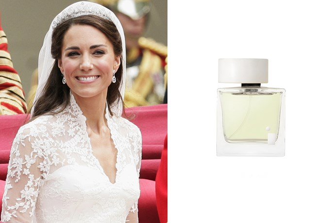 """<strong>Kate Middleton</strong><br> Understandably, this scent sold out repeatedly after it was revealed to be the Duchess' wedding-day scent. <br><br> <em><a href=""""http://illuminumlondon.com/product/white-gardenia-petals/#prettyPhoto"""">White Gardenia Petals EDP, approx. $205 for 100ml, Illuminum London</a></em>"""