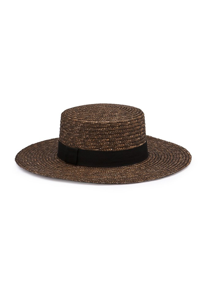 """<a href=""""https://www.countryroad.com.au/shop/woman/accessories/hats-and-gloves/60198495-254/Classic-Boater.html"""">Hat, $79.95, Country Road</a>"""