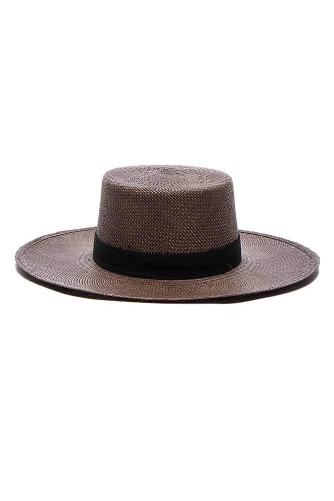 """<a href=""""http://www.fwrd.com/product-janessa-leone-fwrd-exclusive-bernt-hat-in-java-black/JLEO-WH35/?d=Womens&srcType=plpaltimage&page=1&lc=55"""">Hat, $337.10, Janessa Leone at fwrd.com</a>"""