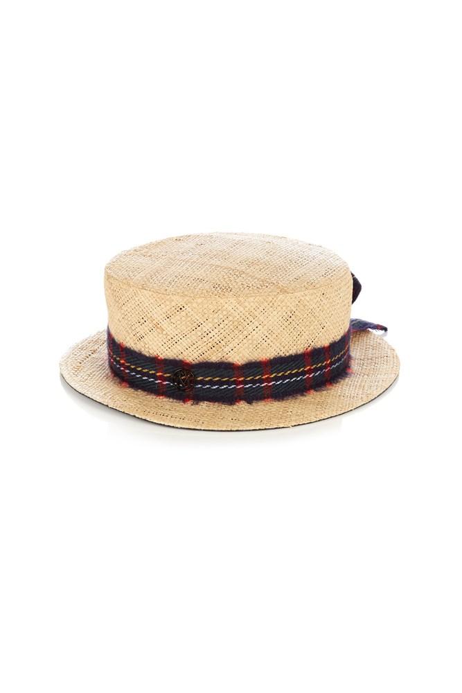 "<a href=""http://www.matchesfashion.com/au/products/Maison-Michel-Auguste-raffia-straw-hat-1060088"">Hat, $650, Maison Michel at matchesfashion.com</a>"