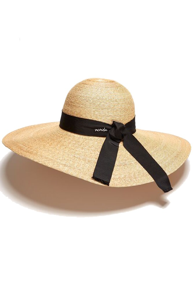 """<a href=""""https://www.neridawinter.com/product/bianca/"""">Hat, $295, Nerida Winter</a>"""