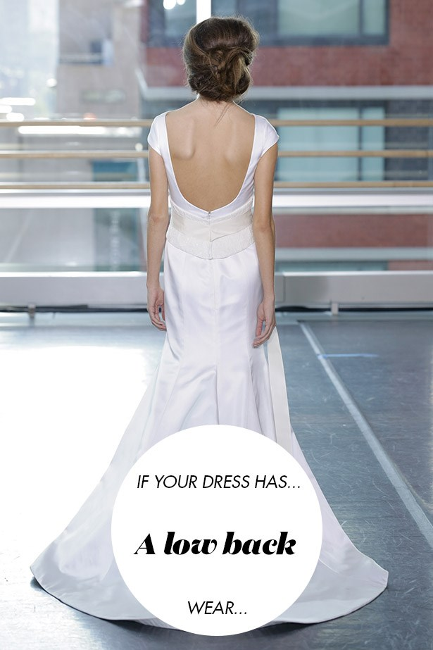 <p> If your dress has a low back...