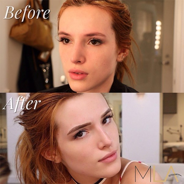 Bella Thorne Microblading Brows