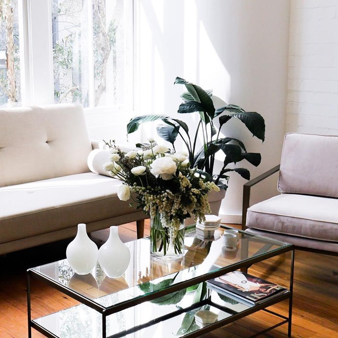 """<strong>Weekly flower delivery</strong><br> A constant reminder of how much she's appreciated, even after your Big Day.<br><br> <a href=""""http://www.myflowerman.com.au/homeandoffice/"""">Flower Delivery, from $150/week, My Flower Man</a>"""