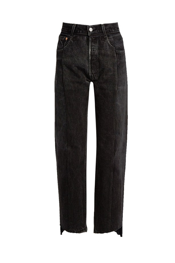 "Jeans, $1,421, <a href=""http://www.matchesfashion.com/au/products/Vetements-Reworked-high-rise-straight-leg-jeans-1065802"">Vetements at matchesfashion.com</a>."