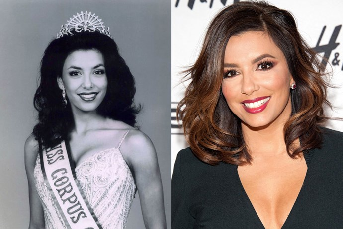 <strong>Eva Longoria</strong><br> Longoria was Miss Corpus Christi USA in 1998 (Corpus Christi being the city in Texas where the actress was born).