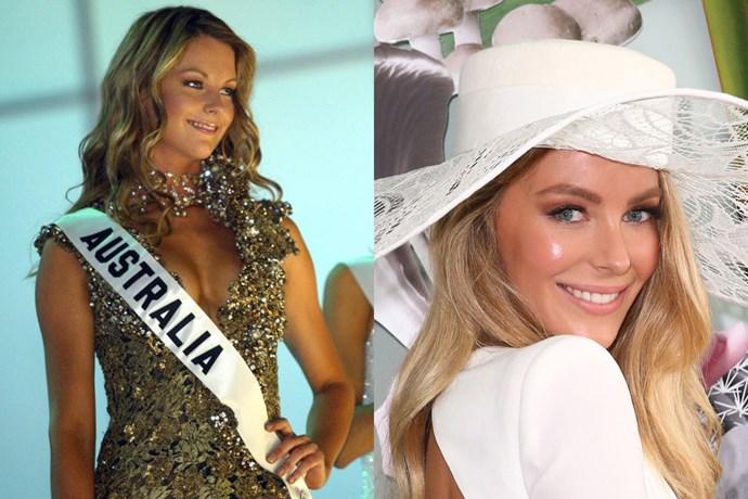 <strong>Jennifer Hawkins</strong><br> Jen was Miss Universe Australia in 2004.