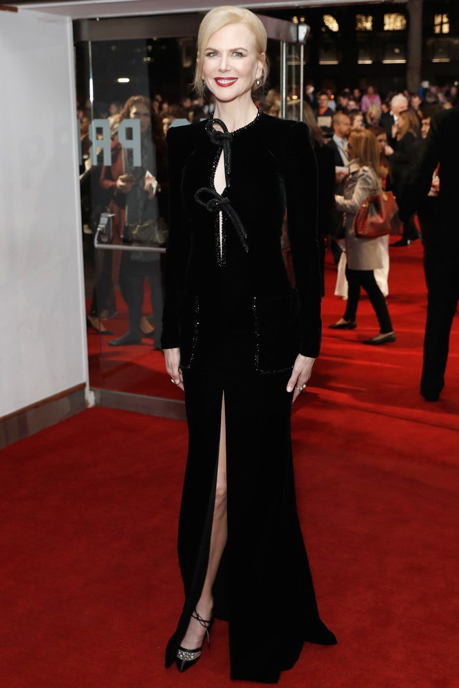 Nicole Kidman in Armani Privé at a London screening of <em>Lion</em>.