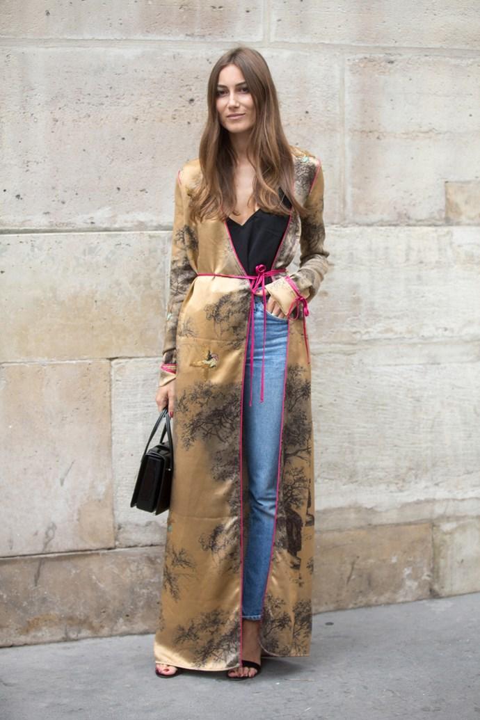 Giorgia Tordini in an Attico robe.