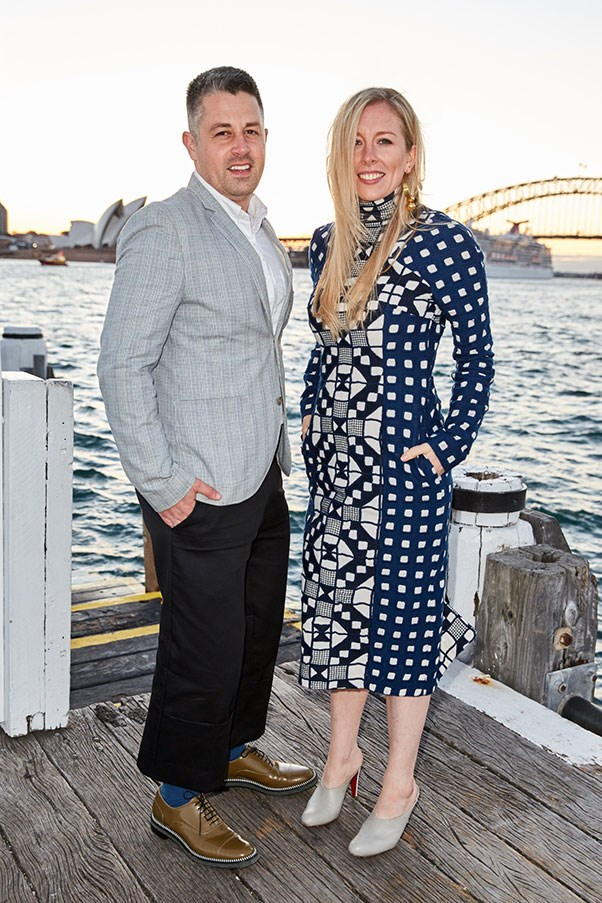 Designers Rob Jones and Catherine Teatum