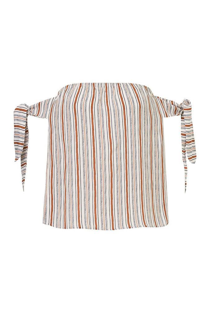 "<a href=""http://www.sportsgirl.com.au/clothing/textured-stripe-tie-sleeve-top-print"">Top, $79.95, Sportsgirl</a>"