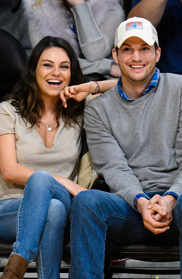 <p><strong>Ashton Kutcher and Mila Kunis</strong> <p>You're more likely to find Ashton and Mila courtside at a basketball game together than on a red carpet. However they did pose backstage together at the 2016 Billboard Music Awards (no red carpet).