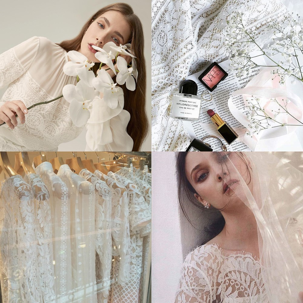 """<a href=""""https://www.instagram.com/lover/?hl=en"""">@lover</a><br><br> This Australian label isn't a bridal one per se, but its dreamy lace dresses have an aesthetic that brides and bridesmaids alike adore."""