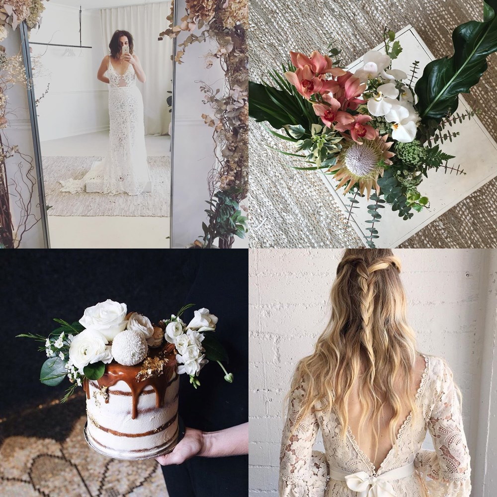 """<a href=""""https://www.instagram.com/hopexpage/?hl=en"""">@hopexpage</a> <br><br> Sydney bridal boutique Hope X Page has one of the best Instagrams going 'round, with floral inspiration and decor ideas alongside the incredible dresses it stocks."""