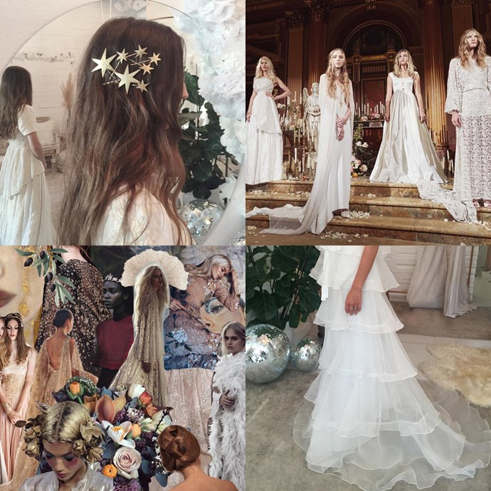 """<a href=""""https://www.instagram.com/odylynetheceremony/"""">@odylynetheceremony</a><br><br> Makers of bridal and bridesmaid gowns with a bona fide ethereal vibe, Odylyne The Label's Instagram is full of moodboard-worthy visuals."""
