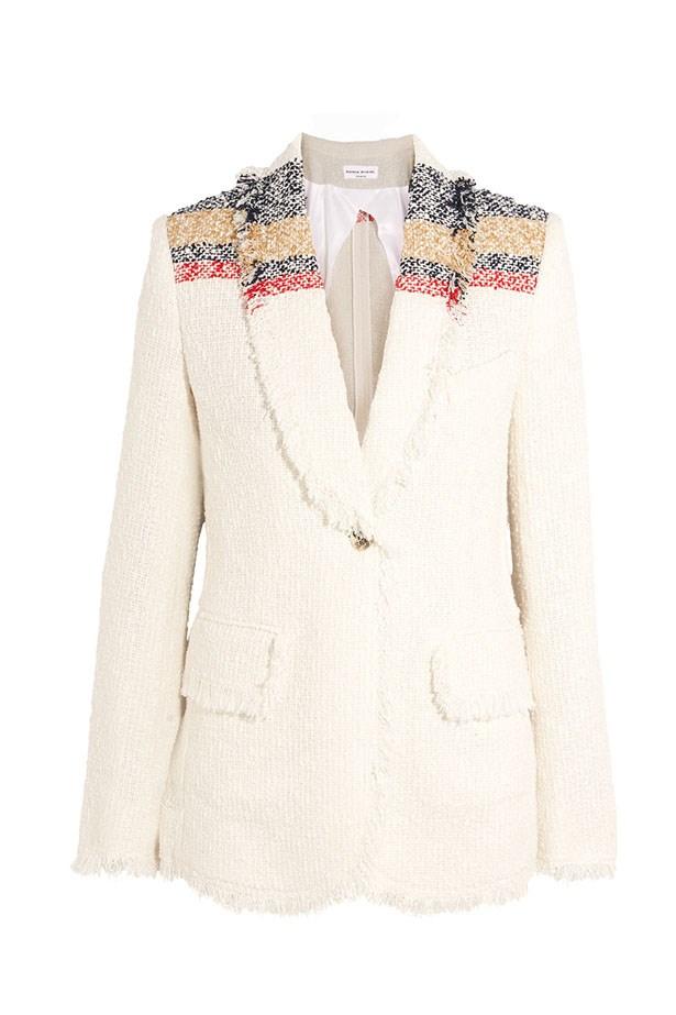 "<a href=""https://www.net-a-porter.com/au/en/product/735135/sonia_rykiel/boucle-tweed-jacket"">Blazer, $1907, Sonia Rykiel at net-a-porter.com.</a>"