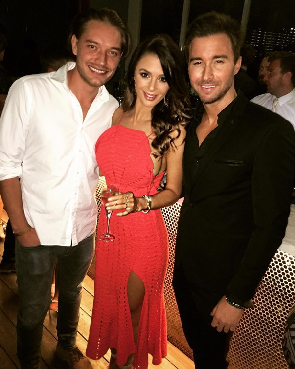 """<p>Emily Simms from Sam Wood's season in 2015 caught up with David """"International Male Model"""" Witko and Michael Turnbull from Sam Frost's season of <em>The Bachelorette</em> at an event. <p><a href=""""https://www.instagram.com/p/BDKC0tkg0SO/"""">Instagram.com/missemilysimms</a>"""