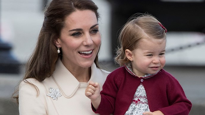 Kate Middleton and Princess Charlotte.