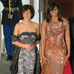 Michelle Obama Atelier Versace Dress State Dinner