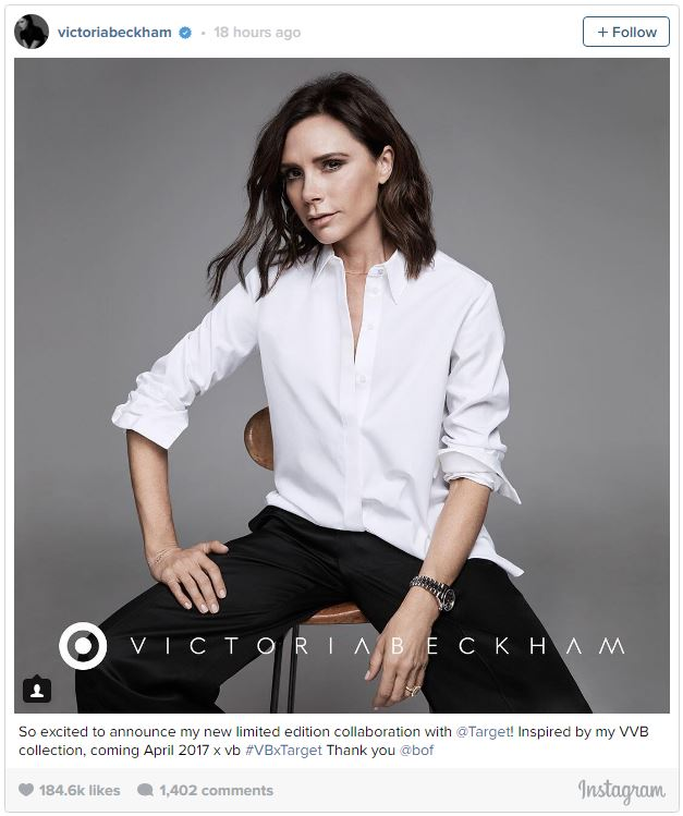 Victoria Beckham Annou... Victoria Beckham For Target