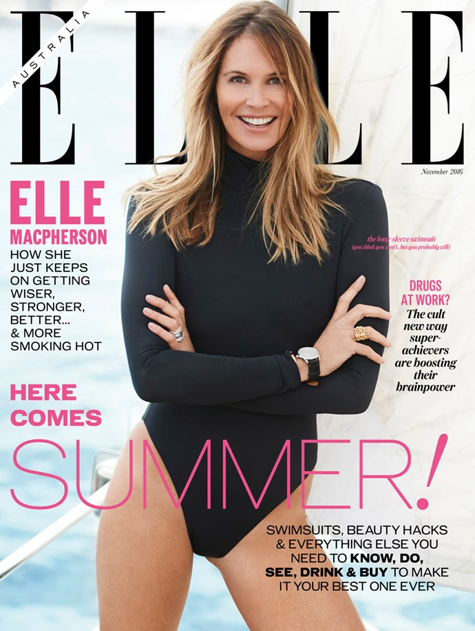 Elle Macpherson ELLE Magazine Australia November 2016 cover.