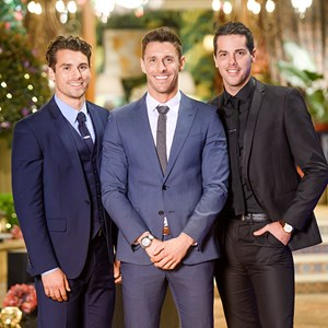 Matty Johnson, Lee Elliott and Jake Ellis From The Bachelorette Australia 2016
