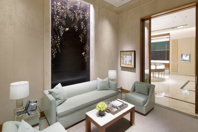 "The Private Sales Salon is said to be influenced by Inspired by ""the residences of New York City's Upper East Side."""