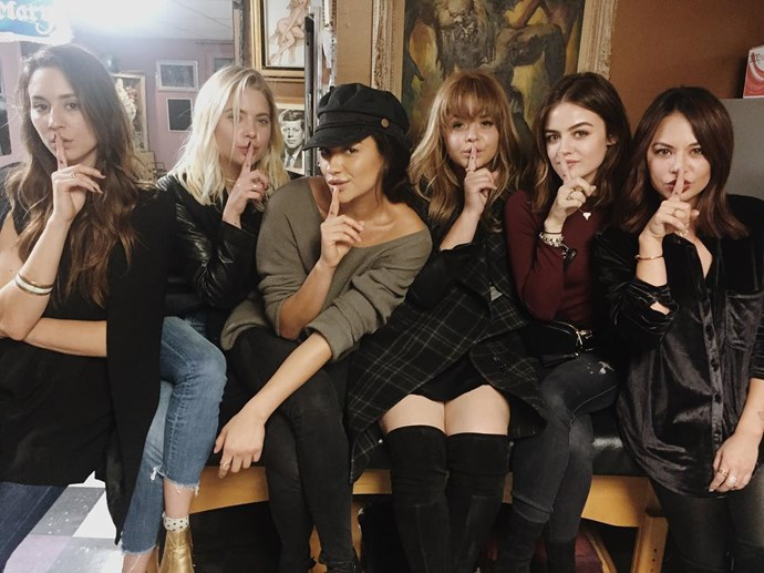 """<em>Pretty Little Liars</em> stars Troian Bellisario, Ashley Benson, Shay Mitchell, Sasha Pieterse, Lucy Hale and Janel Parrish <a href=""""https://www.instagram.com/p/BMGYkaDA0tQ/"""" target=""""_blank"""">show off the new tattoos</a> they got to mark the end of the show."""