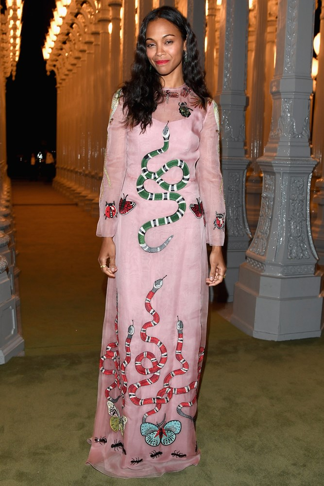 Zoe Saldana at the LACMA Art + Film Gala, presented by Gucci.