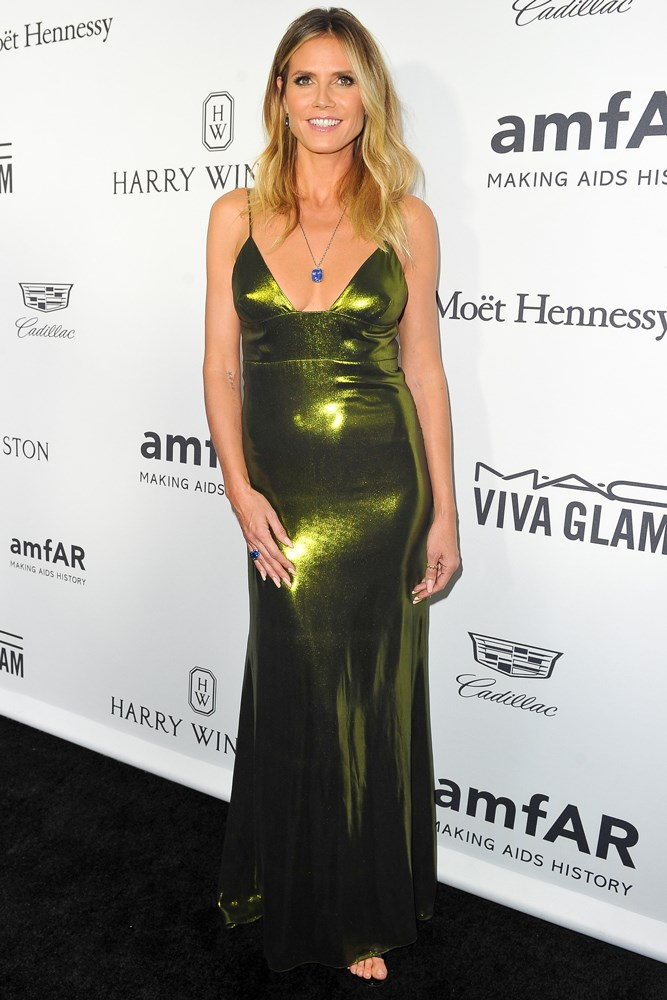 Heidi Klum at amfAR's Inspiration Gala in Los Angeles.