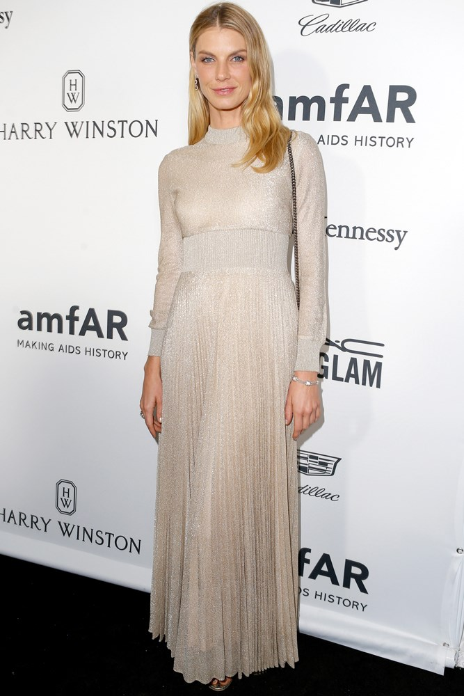 Angela Lindvall at amfAR's Inspiration Gala in Los Angeles.