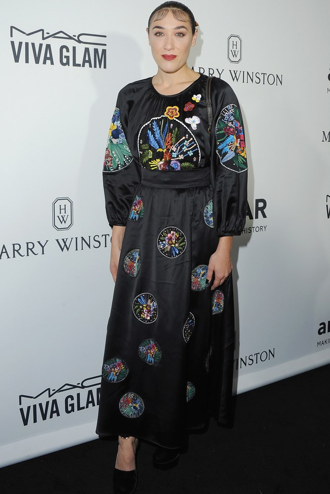Mia Moretti at amfAR's Inspiration Gala in Los Angeles.