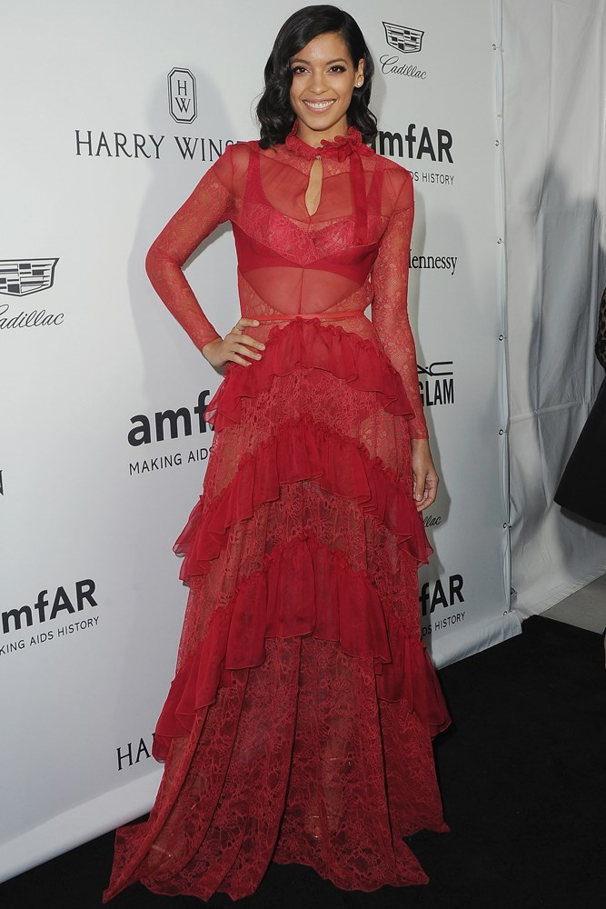 Stephanie Sigman at amfAR's Inspiration Gala in Los Angeles.