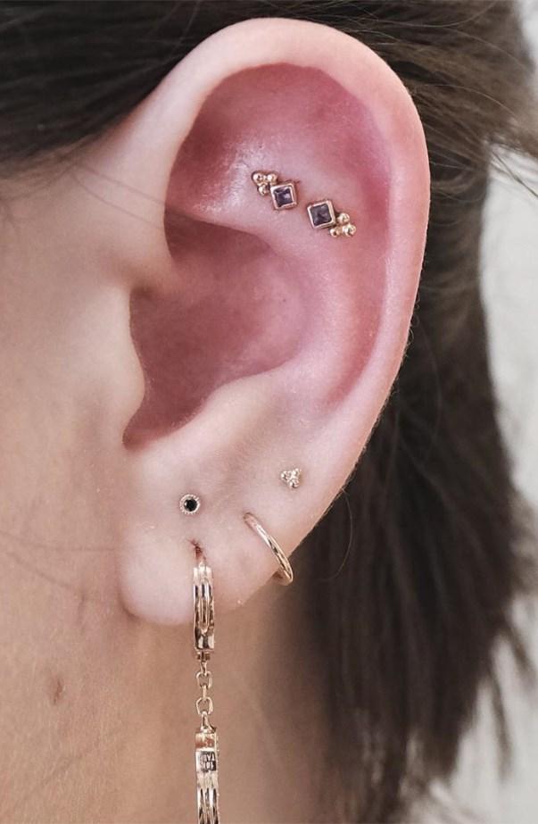 Constellation Ear Piercings Trend