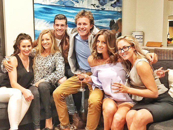 "<p>These WA-based contestants—Natalie Nazzari, Tiffany Scanlon, Cameron Cranley, Ryan Palk, Rachael Gouvignon and Nikki Gogan—watched the finale of <em>The Bachelorette</em> together, with $200 worth of takeaway pizza. <p><a href=""https://www.instagram.com/p/BMGF99SgE48/"" target=""_blank"">Instagram.com/rachael_gouvignon</a>"