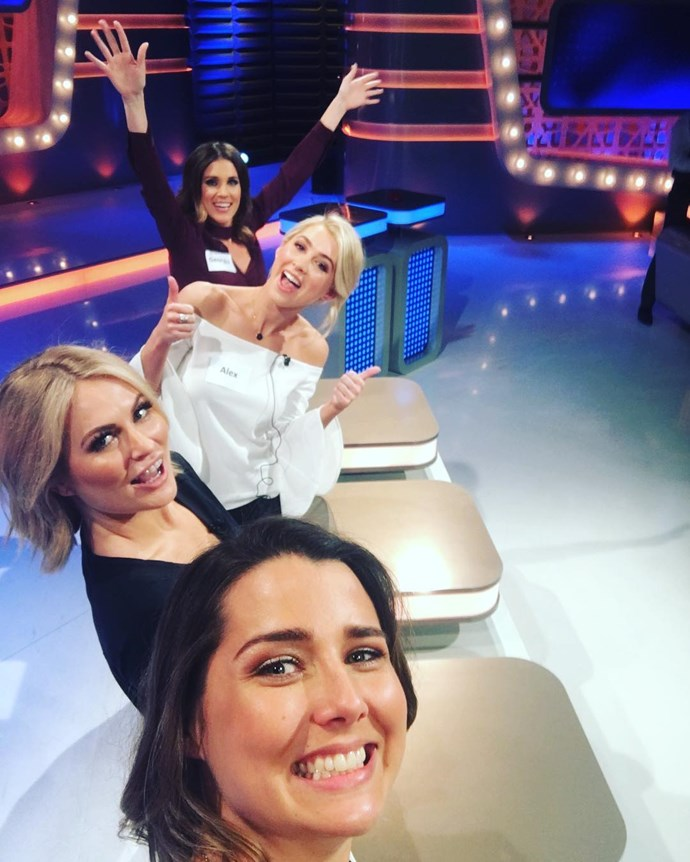 """<p>And here's the team from Heather's selfie perspective. <p><a href=""""https://www.instagram.com/p/BMVwXNsA48r/"""" target=""""_blank"""">Instagram.com/heather_maltman</a>"""