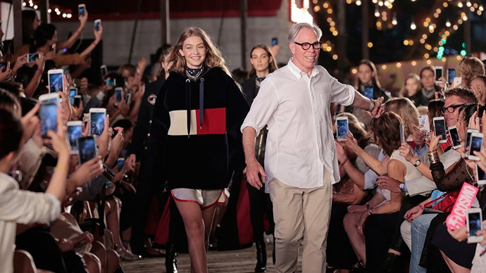 Gigi Hadid and Tommy Hilfiger.