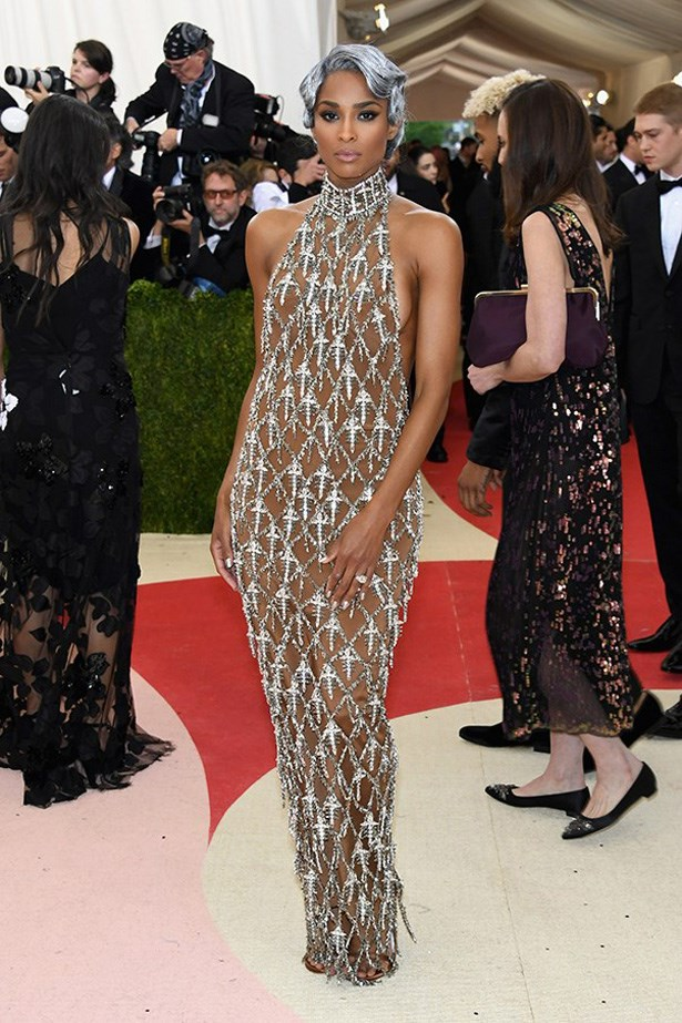 Ciara in H&M at the Met Gala, 2016.