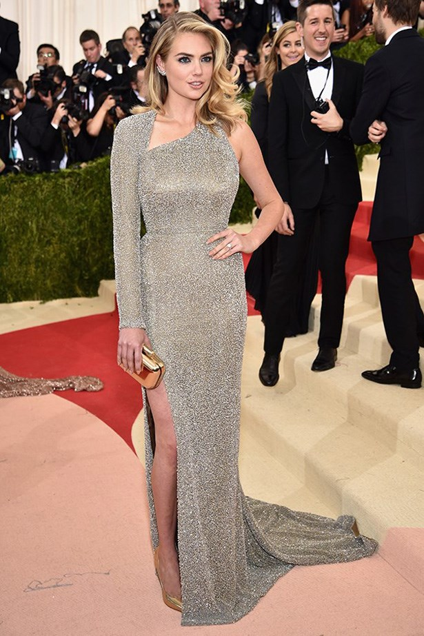 Kate Upton in Topshop at the Met Gala, 2016.