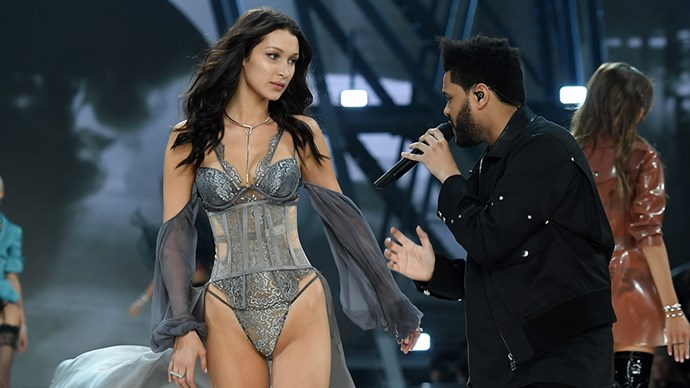 bella hadid the weeknd victoria's secret show