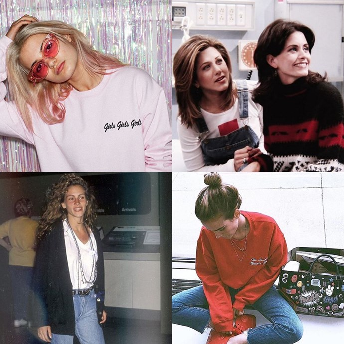 "<p><strong>Double Trouble</strong> <p>The brand known for its embroidered tees and jumpers has the best inspiration board aka account, pulling iconic style moments from some of our favourite movies, with a few real girls mixed in. <p><a href=""https://www.instagram.com/doubletroublegang/"">Instagram.com/doubletroublegang</a>"