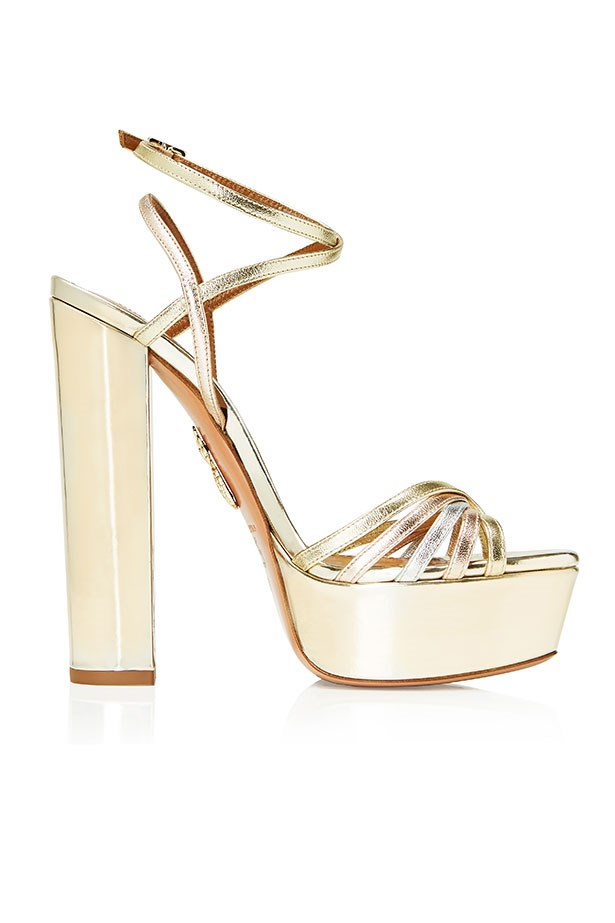 Very Claire, Metal-Mix Sandal, Metallic–$1250.