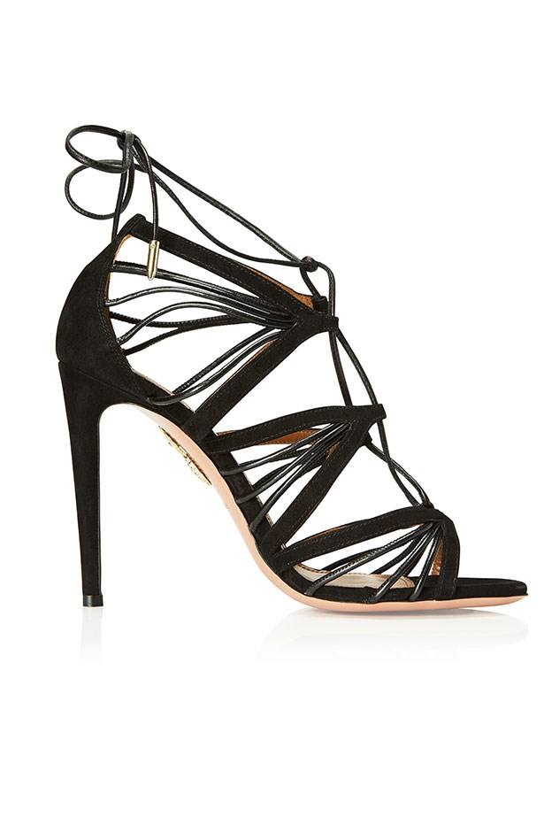 Very Holli, Strappy Suede Sandal, Black–$1150.